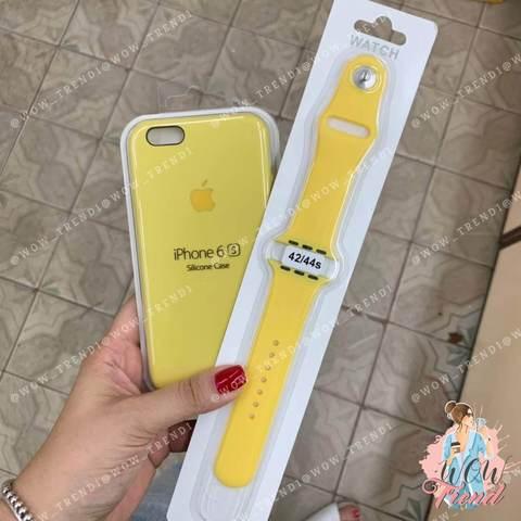 Чехол iPhone 6/6s Silicone Case /yellow/ желтый 1:1