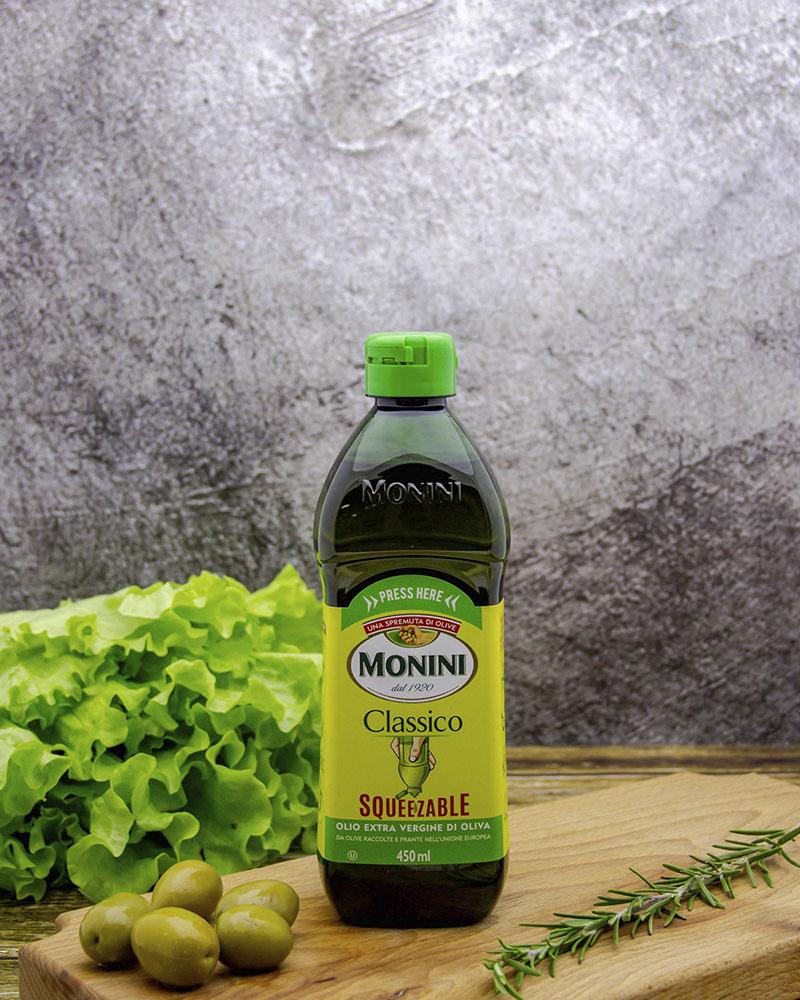 Масло оливковое Monini Классико нерафинированное c дозатором (бутылка-непроливайка) 0,45 л.