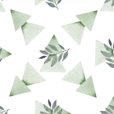 Лесные мотивы треугольные елки