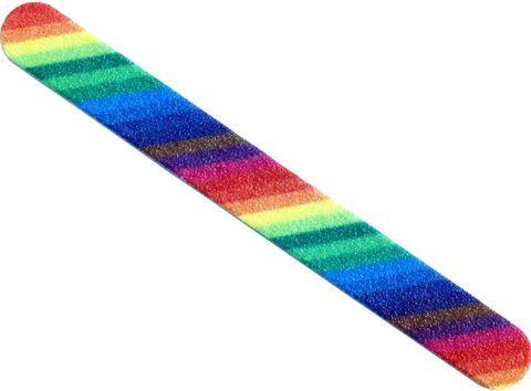 Пилка маникюрная фиолетовая 180/240 (1-touch)
