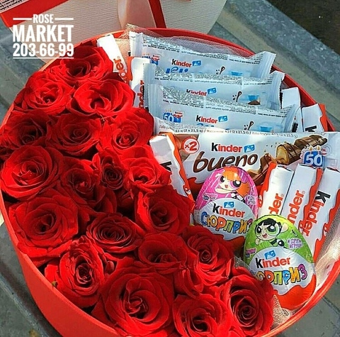 Розы и Kinder сладости #18285