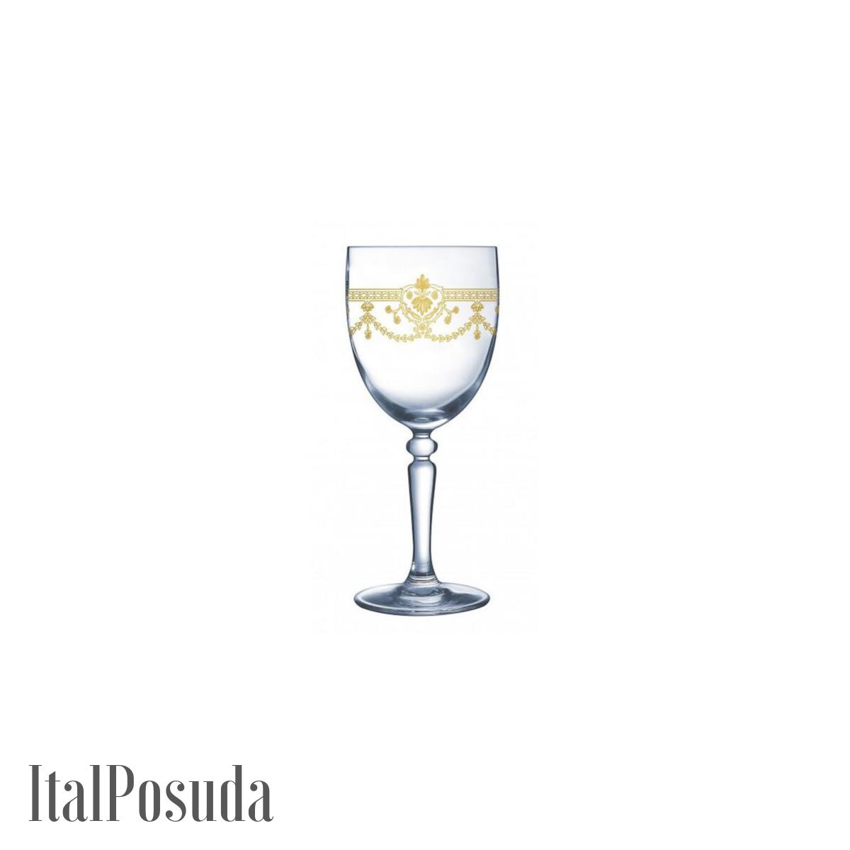 Набор бокалов для вина Cristal D'Arques Dampierre Gold (Дампьер Голд), 6 шт H8620