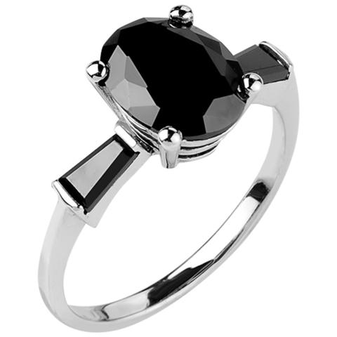 Кольцо из серебра с нано шпинелью Арт.1095н-шп