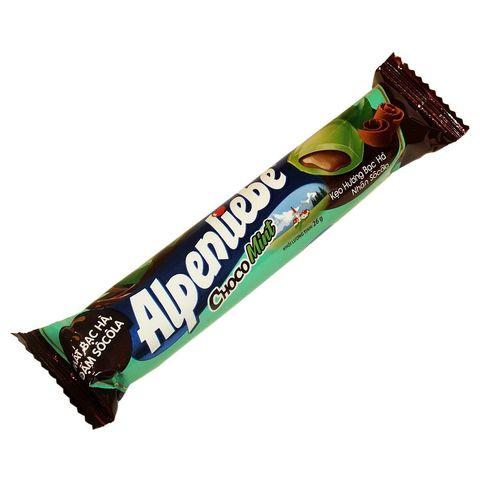 Карамельные конфеты Alpenliebe Choco Mint 26 гр