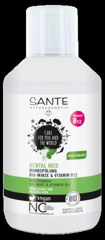 SANTE Ополаскиватель для полости рта с био-мятой и витамином В12