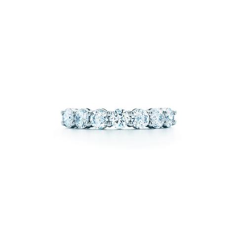 70449- Кольцо-дорожка lux из серебра с круглыми цирконами бриллиантовой огранки