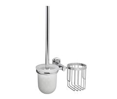 Ершик для туалета WasserKRAFT Oder K-3035 с держателем освежителя воздуха