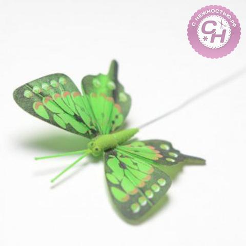 Бабочки декоративные цветные с темным краем, 8 см.