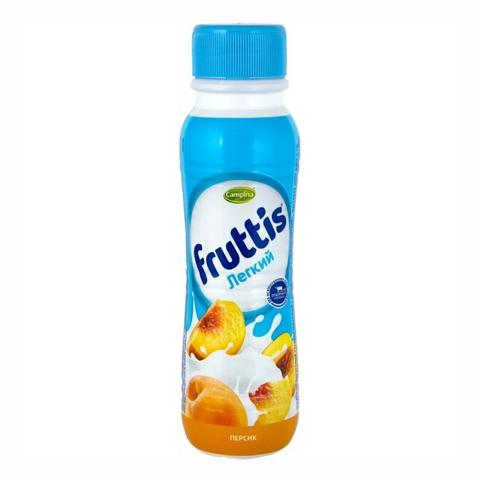 Йогурт питьевой FRUTTIS Легкий Сок персика 0,1% 285 гр Campina РОССИЯ