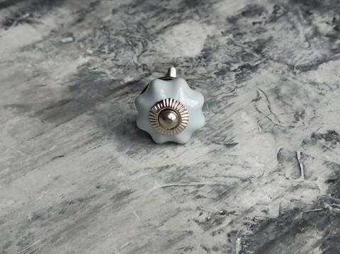 Ручка мебельная керамическая серая крошка, арт. 00001226