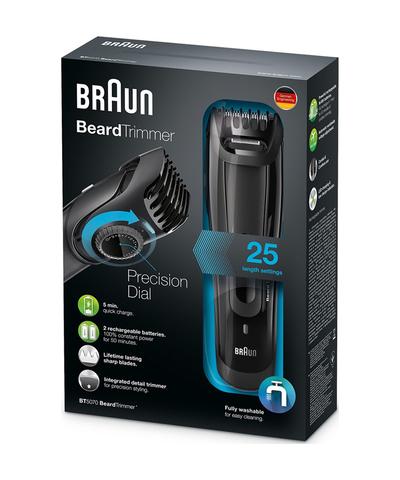 Триммер Braun BT5070, 2 насадки, аккум, черный