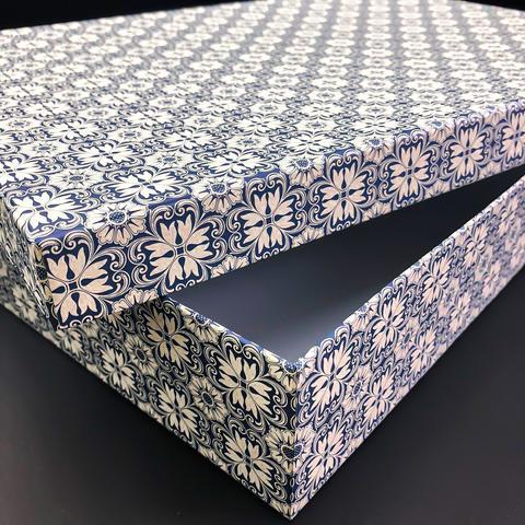 Коробка подарочная Рубашка Варезе синяя, 1