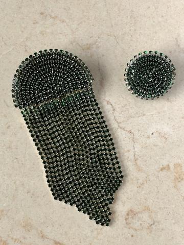 Клипсы Нимфа, зеленые
