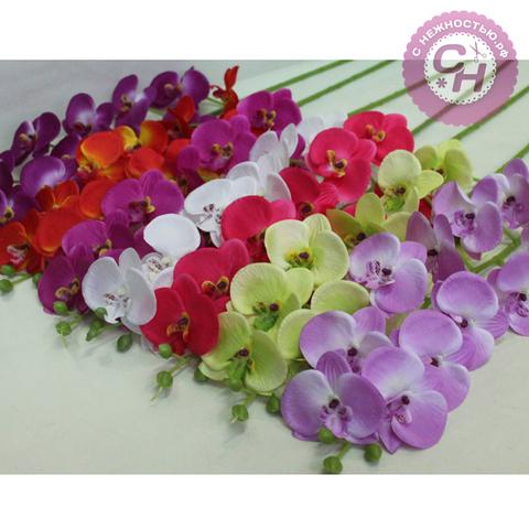 Орхидея искусственная на ветке, 11 голов, 102 см.