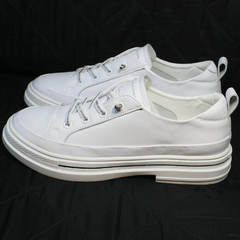 Спортивные туфли кроссовки белые женские El Passo sy9002-2 Sport White.