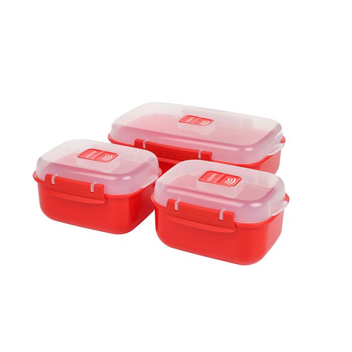 """Набор контейнеров для СВЧ Sistema """"Microwave"""", 3шт."""
