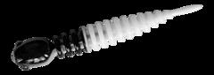 Силиконовые приманки Trout Bait Chub 65 (65 мм, цвет: Бело-чёрный, запах: сыр, банка 12 шт.)