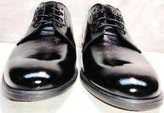Черные лакированные туфли мужские свадебные Ikoc 2118-6 Patent Black Leather.