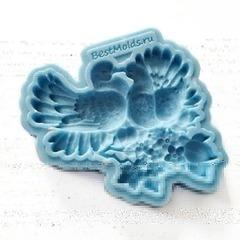 1009 Молд силиконовый. Голуби на ветке. (Большие)