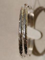 Конго 4,5 см. с узором (серьги из серебра)