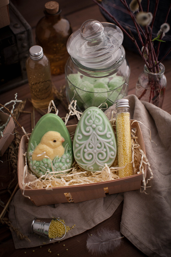 Мыло ручной работы по форме Яйцо/Цыпленок