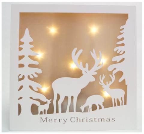 Декорация-рамка рождественская ОЛЕНИ