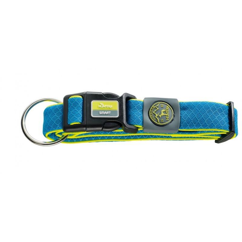 Ошейники Ошейник для собак Hunter Maui S (32-45 cм)/2,5 см сетчатый текстиль голубой 92692.jpg