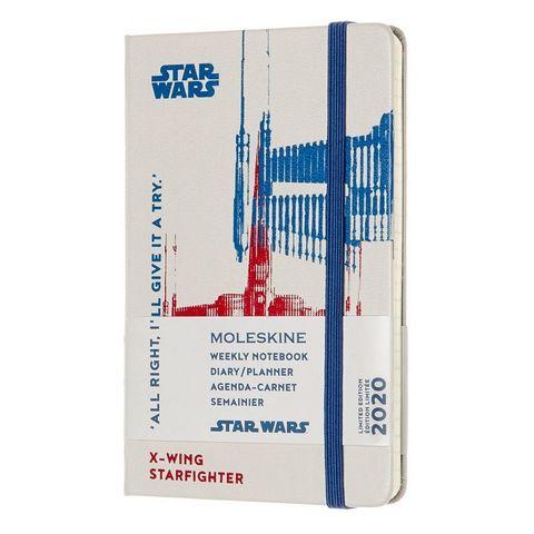 Еженедельник Moleskine STAR WARS WKNT LE Large 90x140мм 144стр. фиксирующая резинка белый Xwing