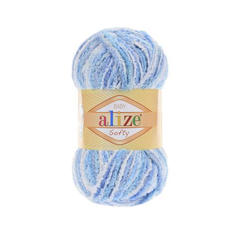 Пряжа Alize Softy голубой меланж 51305