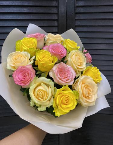 Букет 15 голландских роз 60 см ( цвет на выбор )  #1538