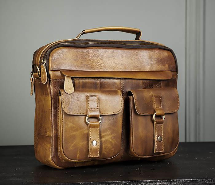 BAG469-2 Мужская винтажная сумка с ремнем через плечо