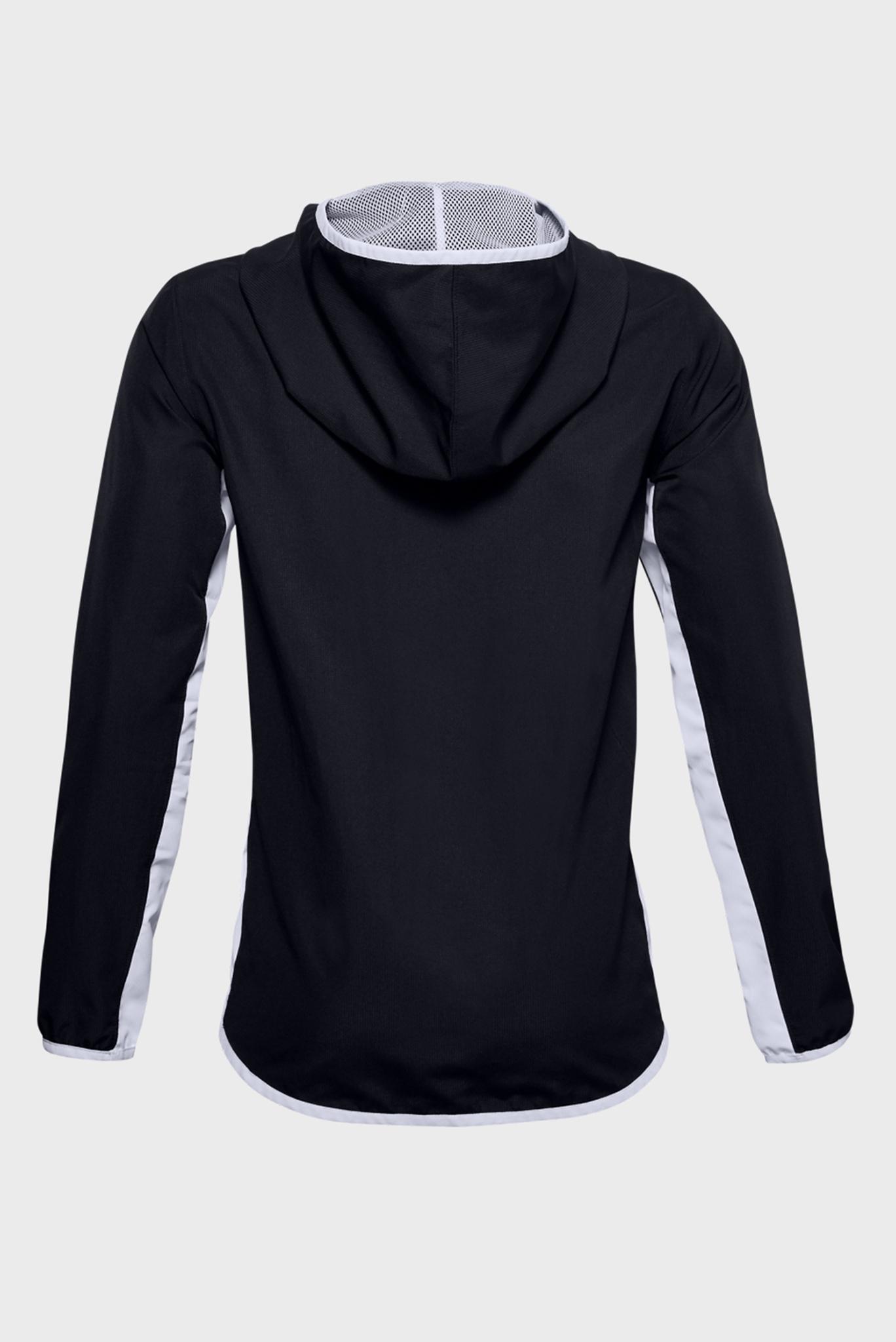 Детская черная спортивная ветровка UA Woven Track Jacket Under Armour