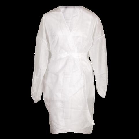 Халат кимоно с рукавами SMS (люкс) белый, 5 шт.