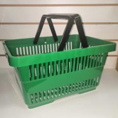 Корзина пластиковая c двумя ручками 22 литра PSB-20D (Зеленый)