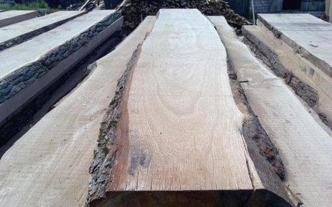 Необрезная доска из дуба 25мм длина 3000мм