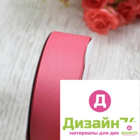 Лента репсовая 2,5см (пенка розовая № 193)