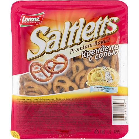 Крендельки Saltletts Lorenz с солью 125 г