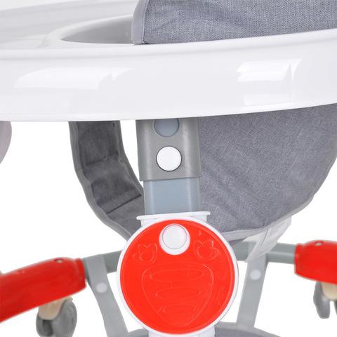 Ходунки круглые 6 силиконовых колес, подставка для ног