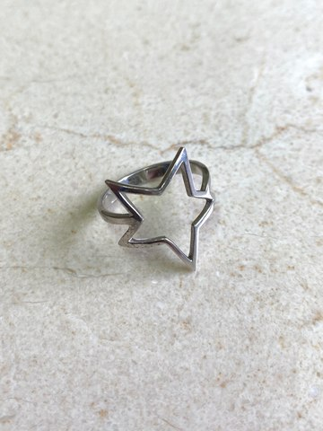Кольцо Звезда из серебра