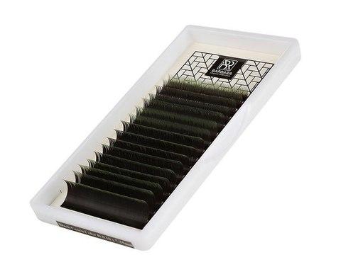 Омбре ресницы BARBARA (зеленые) МИКС (D 0.10 7-15mm)