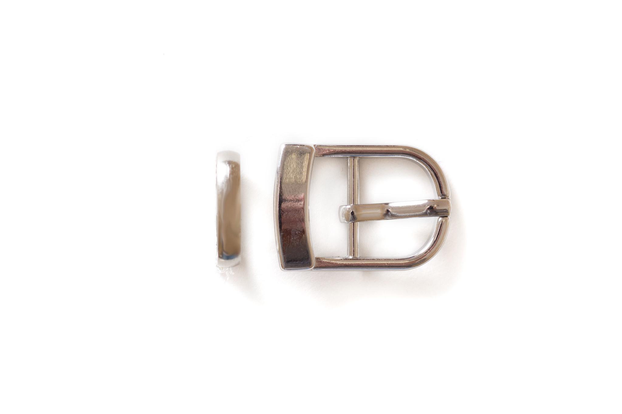 Пряжка со шлевкой 15 мм, никель