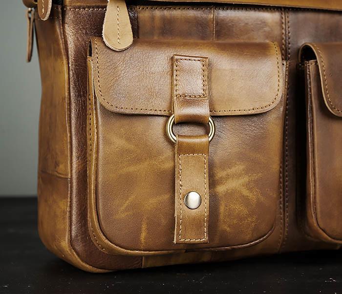 BAG469-2 Мужская винтажная сумка с ремнем через плечо фото 03