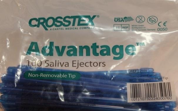 Наконечники для слюноотсосов Crosstex Advantage Saliva Ejector (Голубые)