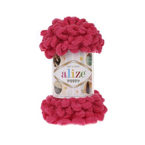 Купить Пряжа Alize Puffy Код цвета 149 Малиновый | Интернет-магазин пряжи «Пряха»