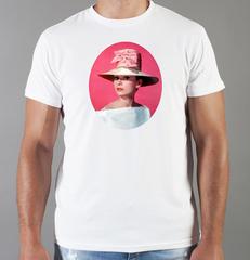 Футболка с принтом Одри Хепбёрн (Audrey Hepburn) белая 005