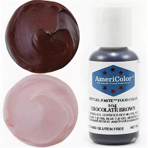 Краситель пищевой AmeriColor 21гр. CHOCOLATE BROWN