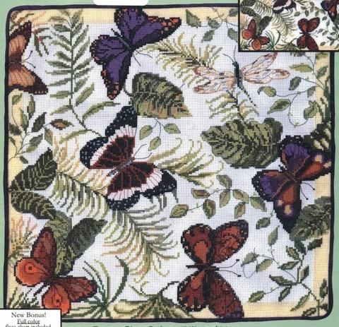 51571 Butterflies Galore Pillow (Изобилие бабочек)