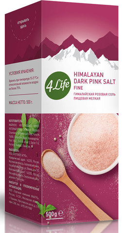 4LIFE, Соль гималайская розовая крупная, 500гр