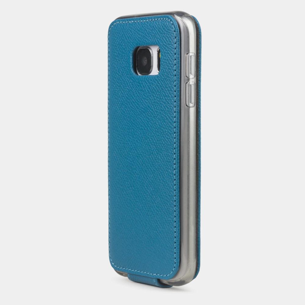 Чехол для Samsung Galaxy S7 из натуральной кожи теленка, морского цвета
