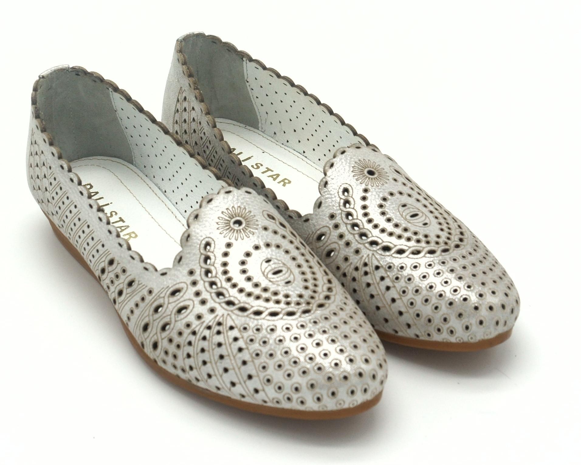 Летние туфли - лодочки из натуральной кожи